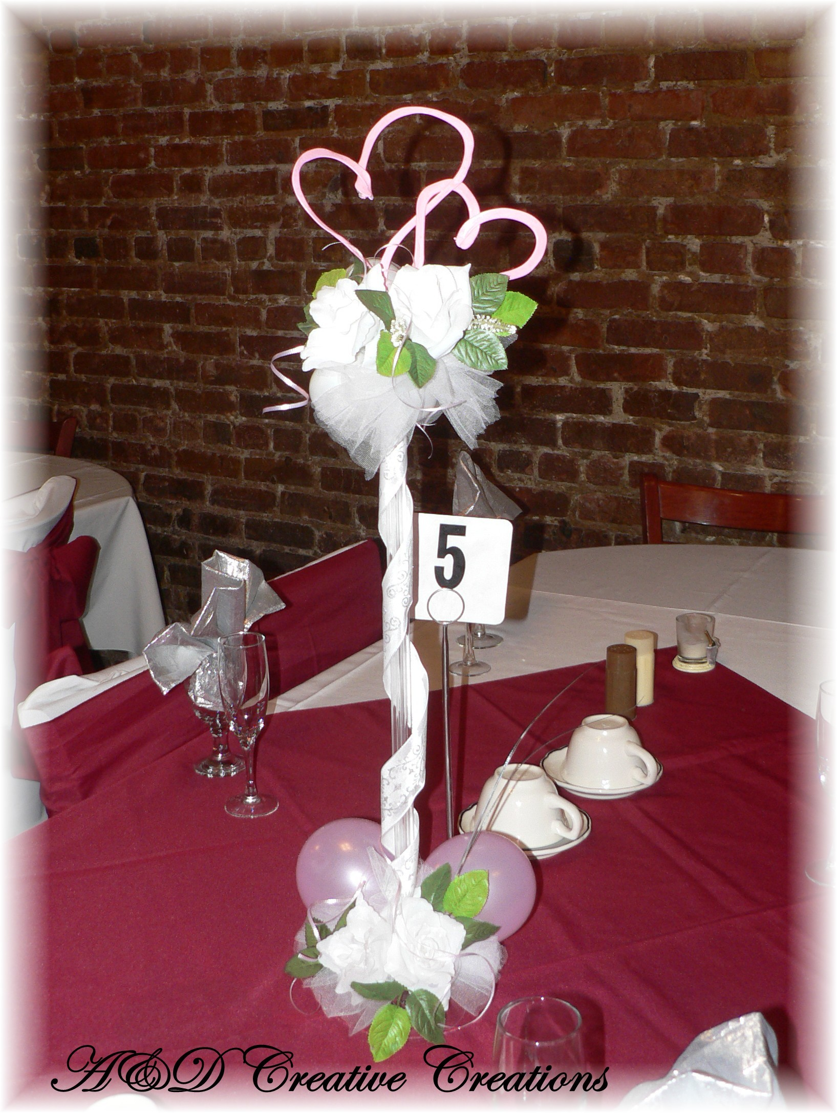 Flowers & Decor, Decor, Centerpiece, Table, Balloons, Ad creative creations