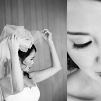 Veils, Fashion, white, black, Bride, Veil, And, Myrtle marjoram