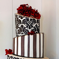 Cakes, cake, Wedding, Couture, Damask, A sweet design, Demask