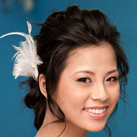 Beauty, Chignon, Wavy Hair, Hairpin, Feathers, Comb