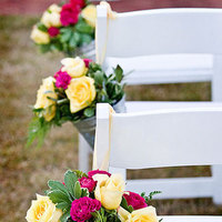 Flowers & Decor, Ceremony Flowers, Aisle Decor, Rustic Wedding Flowers & Decor