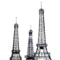 Reception, Flowers & Decor, Centerpieces, Centerpiece, Paris, Decoration, Holders, Tower, Eiffel, Kristengracecom, Tealight