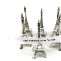 Reception, Flowers & Decor, Favors & Gifts, Favors, Paris, Card, Place, Holders, Tower, Eiffel, Kristengracecom