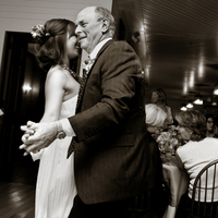 Reception, Flowers & Decor, white, black, Bride, Wedding, Dancing, Father, And, Ryan timm photography