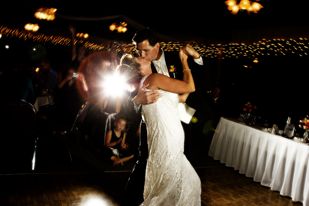 Reception, Flowers & Decor, Bride, Groom, Dance, Kiss, First, Dip, Ryan timm photography