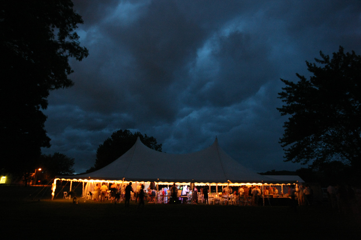 Reception, Flowers & Decor, Wedding, Tent, Outside, Ryan timm photography, Storm