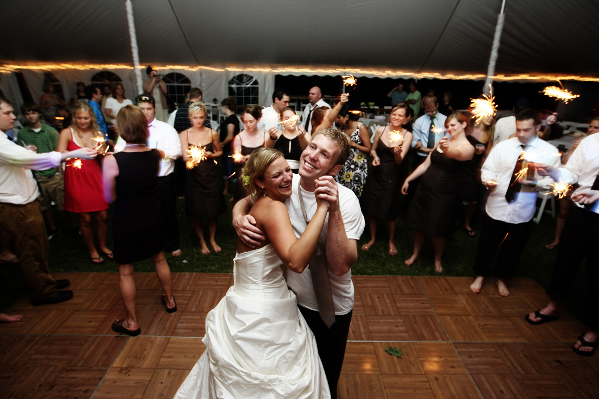 Reception, Flowers & Decor, Bride, Groom, Dance, Sparklers, Crowd, Ryan timm photography