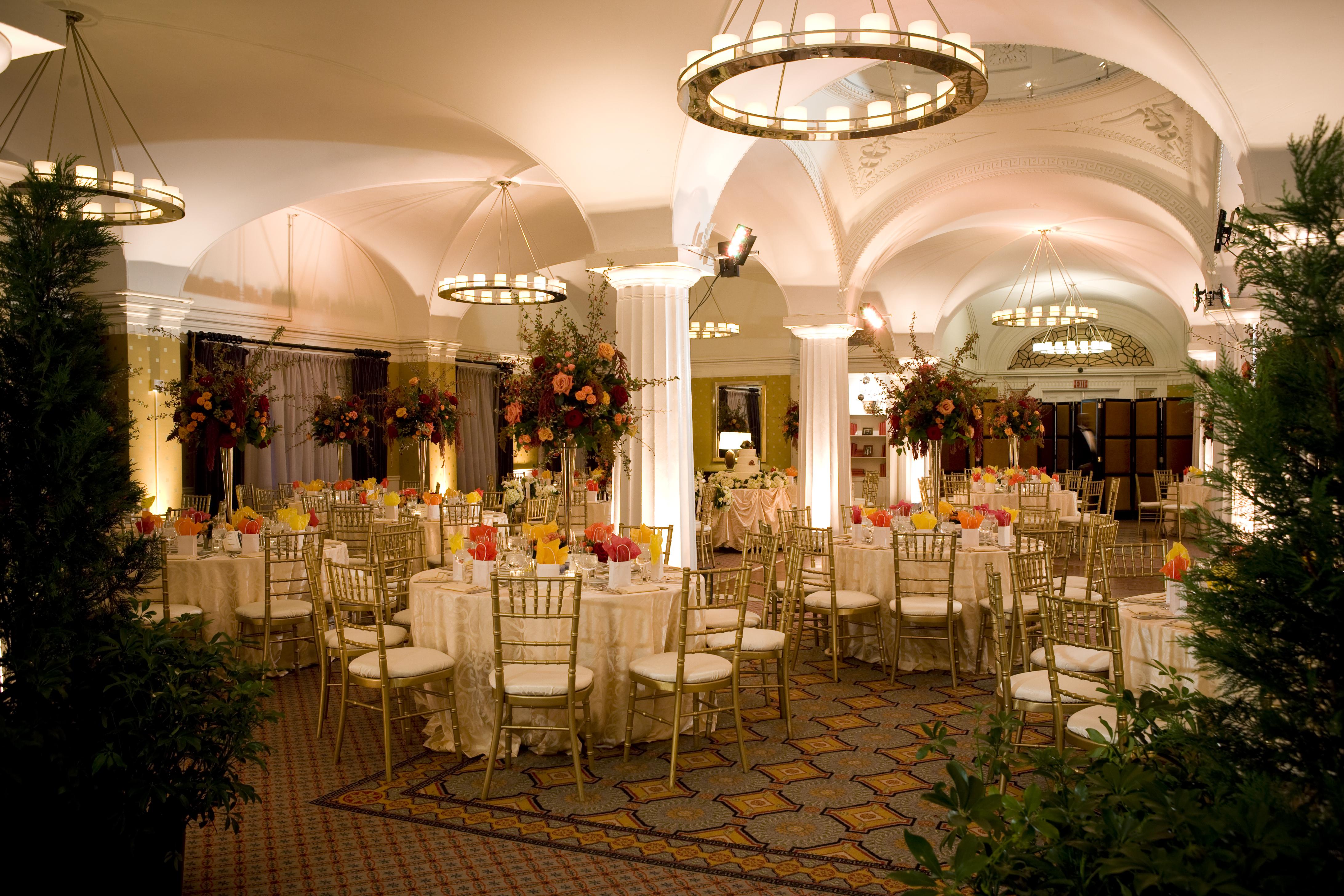 Room shot before the reception starts at the hotel monaco for Hotel monaco decor