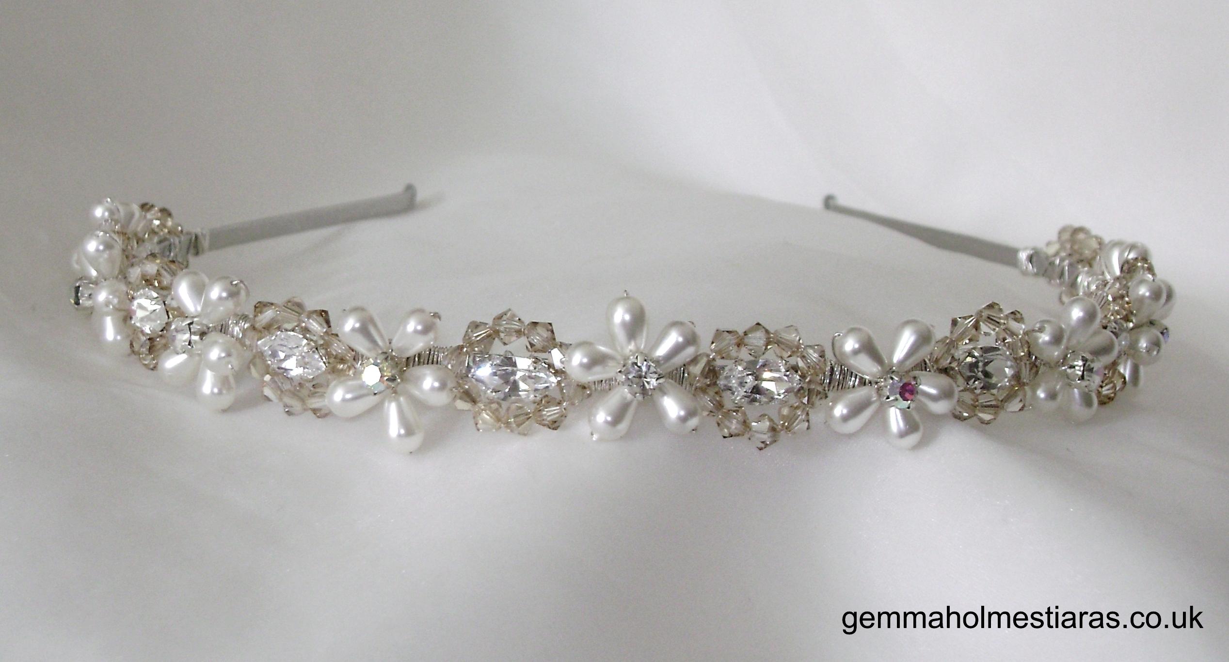 Jewelry, Tiaras, Vintage, Tiara, Swarovski, Handmade, Hairclip, Gemma holmes