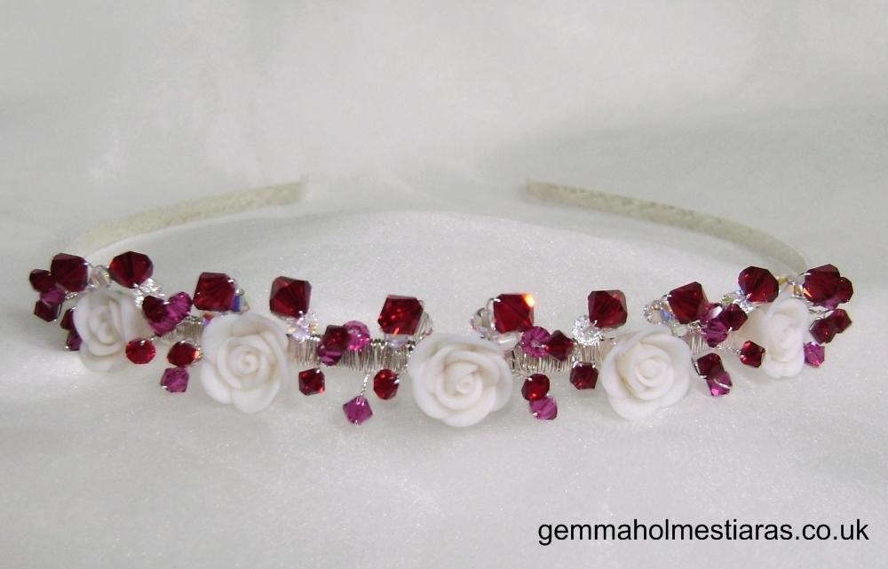 Flowers & Decor, Jewelry, Tiaras, Bridesmaid Bouquets, Flowers, Bridesmaid, Band, Tiara, Gemma holmes, Alice