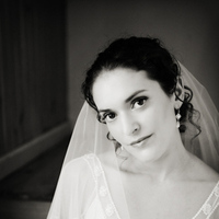 white, black, Bride, Portrait, And, Sweet monday photography