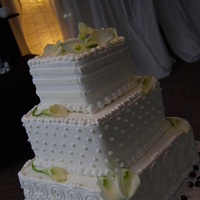 Reception, Flowers & Decor, Decor, Cakes, white, black, cake, Calla, Lilies, Crystals, Callalilies