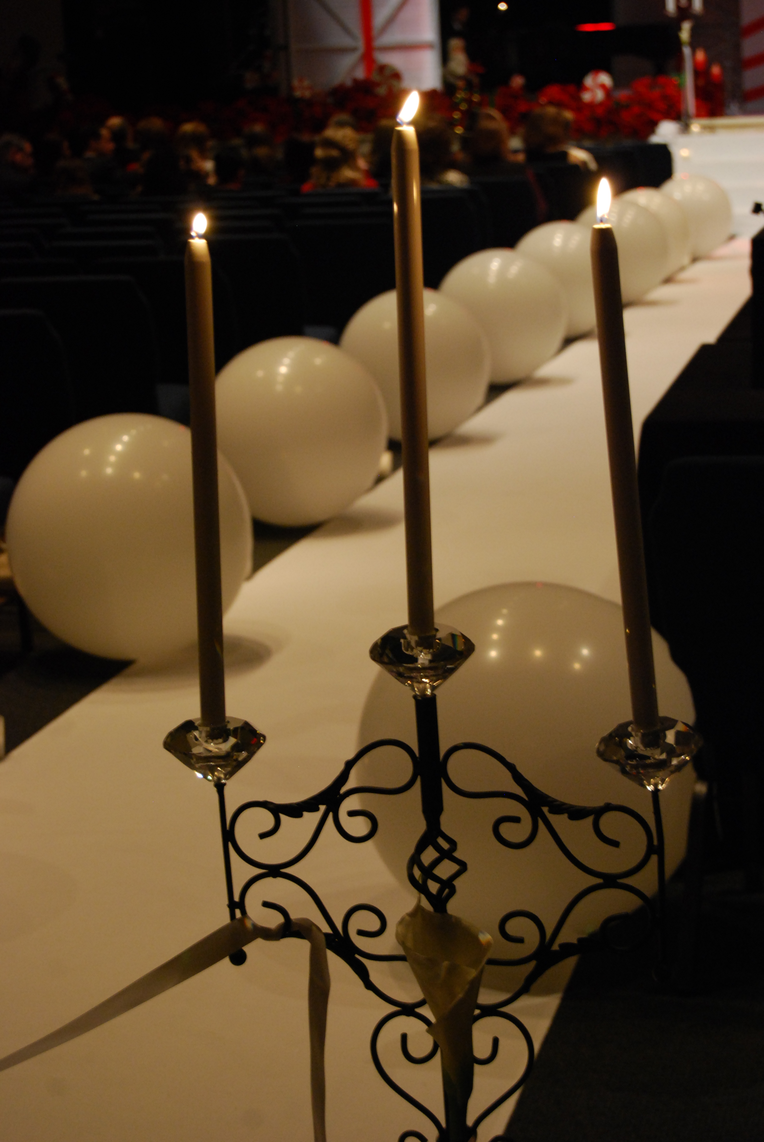 Ceremony, Flowers & Decor, Decor, white, black, Candles, Crystal, Aisle, Mechanical, Balloons, Candleabra, Tapers