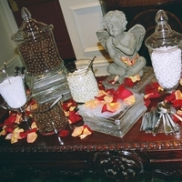 Reception, Flowers & Decor, Decor, Favors & Gifts, yellow, red, favor, Chocolate, Rose, Petals, Glass, Mints, Angel, Jars, Candybar, Markei events productions, Rosepetals