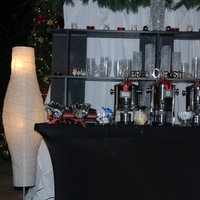 Reception, Flowers & Decor, Decor, white, red, black, Lighting, Beverage, Coffee, Christmas, Candlelight, Markei events productions