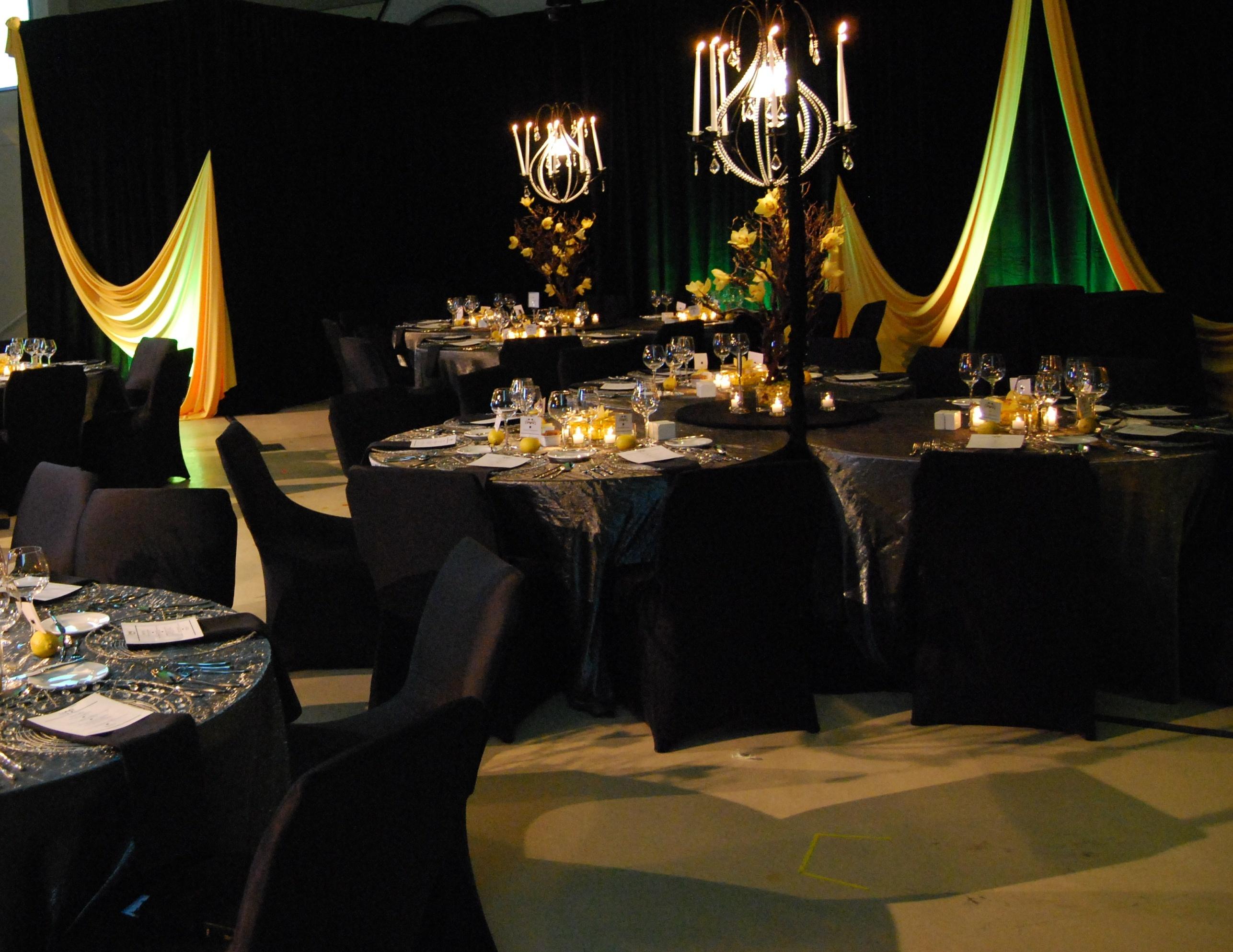 Gold And Black Wedding Ideas: Elegant Dinner Settingvendors Markei Events Amp