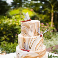 Cakes, red, brown, cake, Modern, Modern Wedding Cakes, Wedding, Chicago