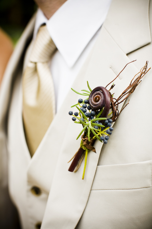 brown, Boutonnieres, Rustic Wedding Flowers & Decor