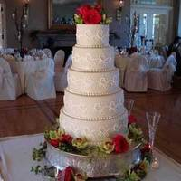 Cakes, ivory, red, cake