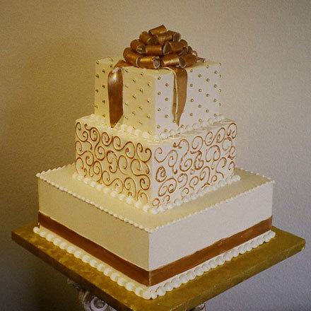 Cakes, ivory, gold, cake