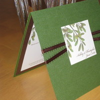 Stationery, invitation, Invitations, Wedding, Branch, Metallic, Olive, The stylish scribe, Folded