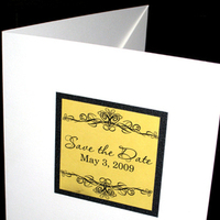 Stationery, white, yellow, Invitations, Wedding, Pocketfold, Pocket, The stylish scribe, Ornamental