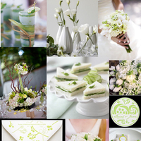 Inspiration, Stationery, white, green, Invitations, Board