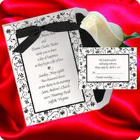 Stationery, black, invitation, Invitations, Wedding, Vine, Floral, Los, Angeles, Border, Nex graphics invitations