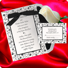 Stationery, black, invitation, Invitations, Wedding, Vine, Floral, Los, Angeles, Border, Nex graphics invitations