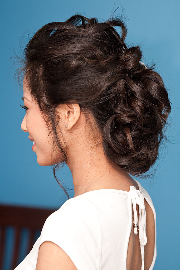 Beauty, Updo, Curly Hair