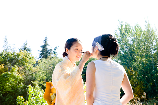 green, Wedding, Vancouver, Eco-chic, Makep