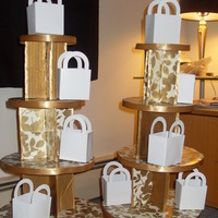 Favors & Gifts, gold, favor, Cupcake, Tower