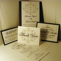 Stationery, invitation, Invitations, Thank You Notes, Menu, The, Save, Date, Card, You, Thank, Response, Elegance by krystle