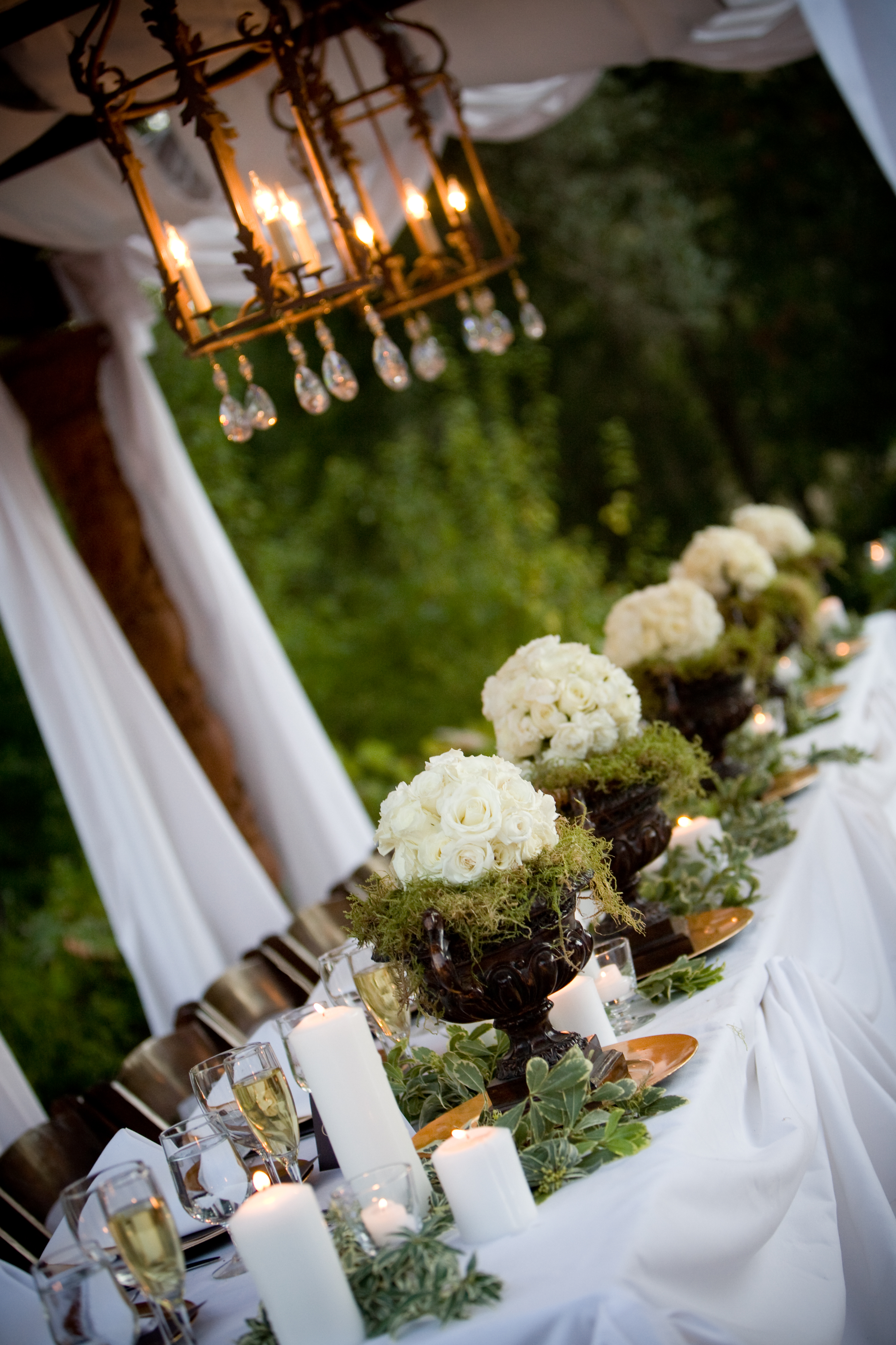 reception decor at chateau felice project wedding