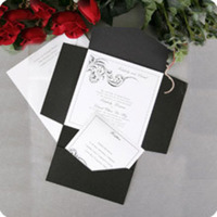 Stationery, white, black, Invitations, Pocket, Nex graphics invitations