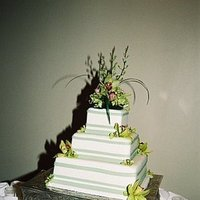 Cakes, green, cake, Orchids, Beau weddings events, Cymbidian
