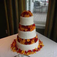 Flowers & Decor, Cakes, yellow, red, cake, Fall, Flowers, Fall Wedding Flowers & Decor, Wedding, And, Beau weddings events