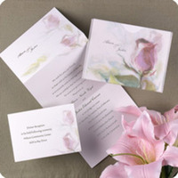 Flowers & Decor, Stationery, pink, Invitations, Flowers, Flower, Floral