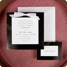 Stationery, white, black, Invitations, And, Bows