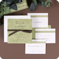 Stationery, green, Invitations, Wedding, Floral