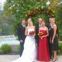 red, black, Bride, Bridesmaid, Beau weddings events