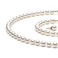 Jewelry, white, Bracelets, Earrings, Pearls, Necklace, Bracelet, Set, Pearl, Piece, Three, Pearlparadisecom, Akoya