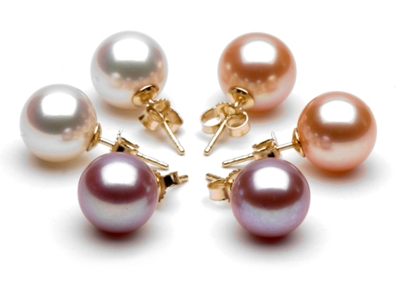 Jewelry, white, pink, purple, Earrings, Peach, Pearls, Earring, Pearl, Pearlparadisecom