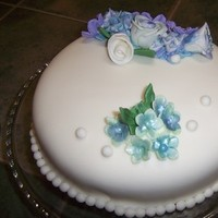 Cakes, blue, cake, Fondant, Cutting, For, Cake-cakes