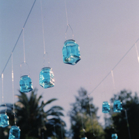 Reception, Flowers & Decor, blue, Wedding, Lanterns, Indian, Mexican, Multicultural