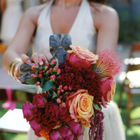 Flowers & Decor, yellow, pink, red, gold, Bride Bouquets, Flowers, Bouquet, Wedding, Indian, Mexican, Multicultural