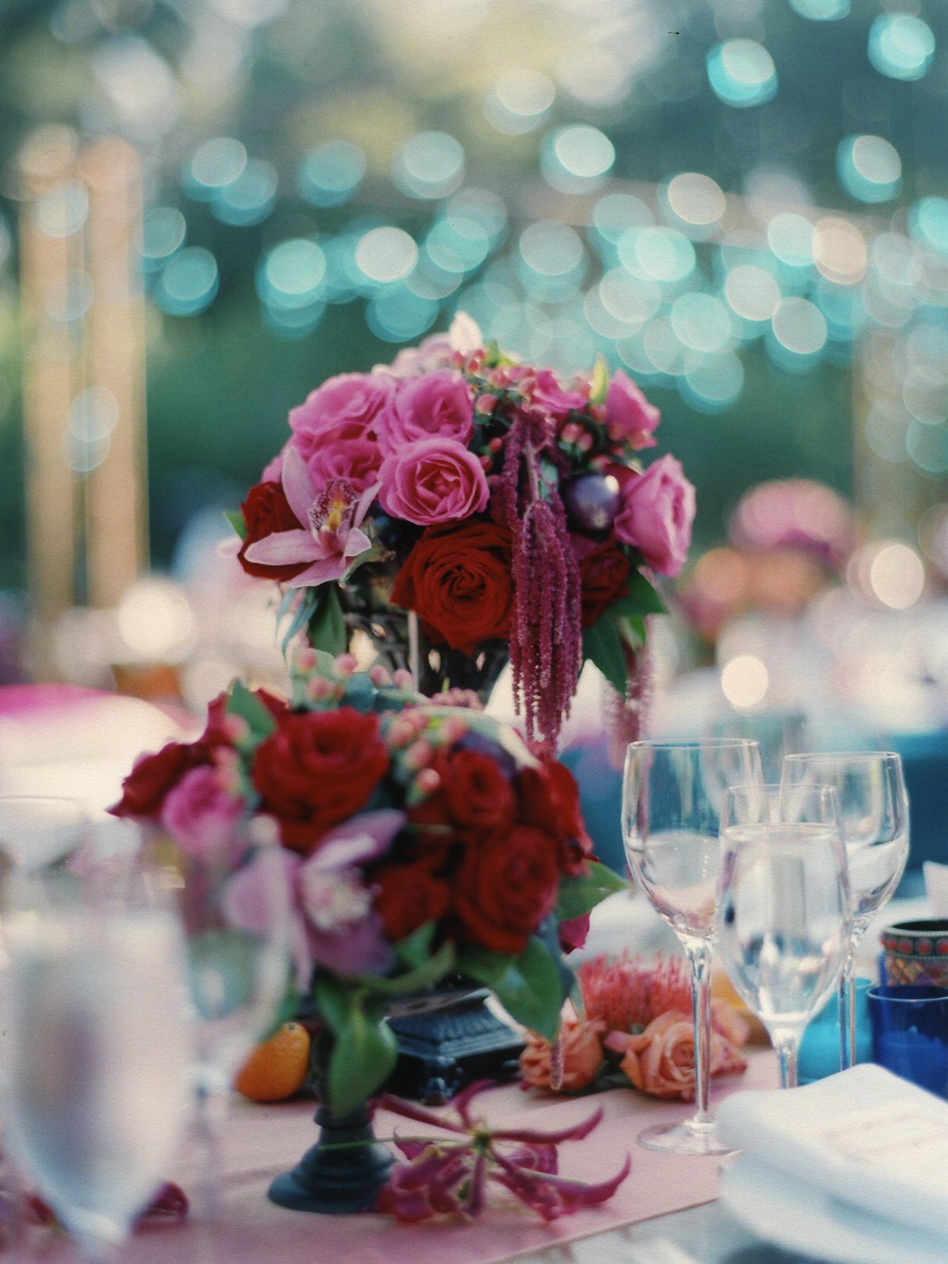 Flowers & Decor, pink, red, gold, Centerpieces, Flowers, Centerpiece, Wedding, Indian, Mexican, Multicultural