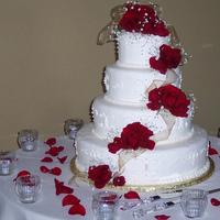 Cakes, cake, Roses, Wedding