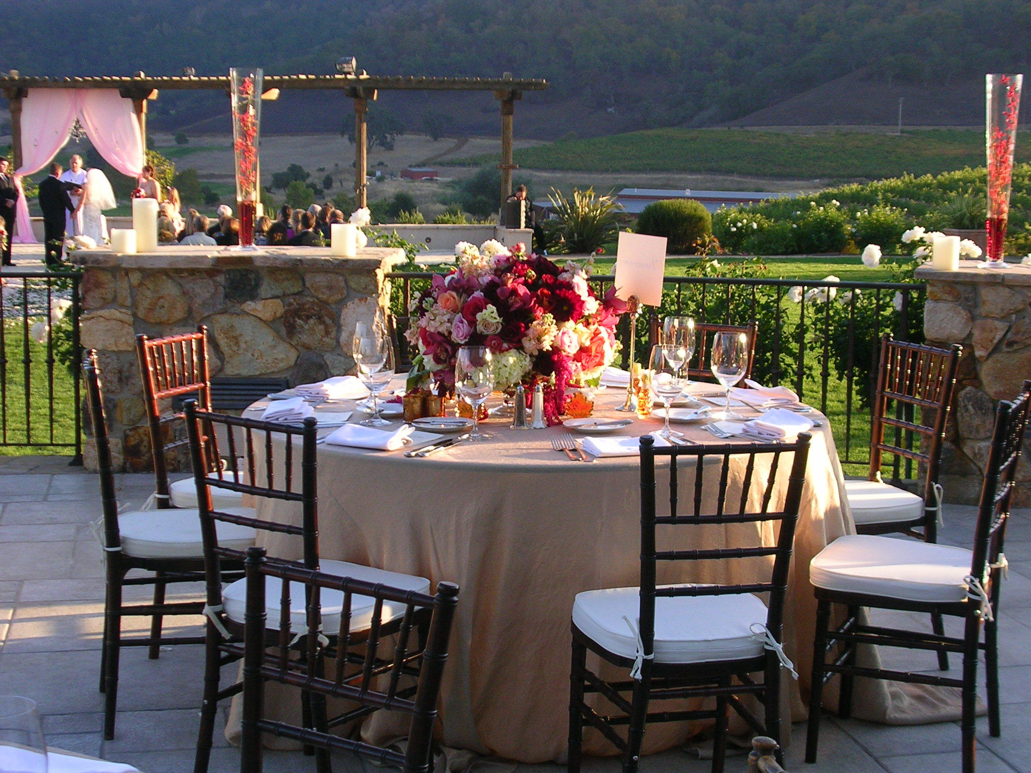 Flowers & Decor, ivory, pink, gold, Tables & Seating, Centerpiece, Chairs, Terra, Cotta, Chivari, Bordeaux