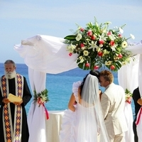 Ceremony, Flowers & Decor, Destinations, Real Weddings, Destination Weddings, Mexico, Flower girl, A baja romance wedding based in los cabos, Sunset weddings, Baja weddings, Signature weddings, Weddings in mexico, Los cabos weddings, Wedding in los cabos, Cabo san lucas wedding